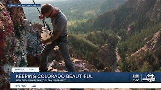 Keeping Colorado Beautiful removing graffiti