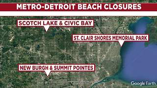 30 Michigan beaches closed due to high bacteria levels; 4 in metro Detroit