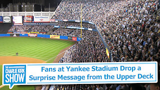 Fans at Yankee Stadium Drop a Surprise Message from the Upper Deck