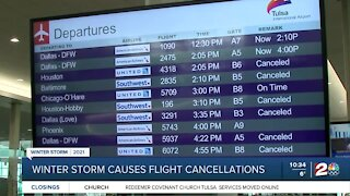 Winter storm causes flight cancellations