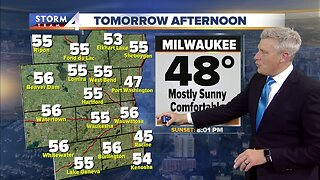 Clouds clear overnight, sunny Friday