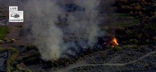 Fire at Clark County Wetlands Park