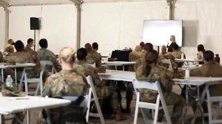 USAF Airmen conduct dry-run at Community Vaccination Center at Houston's NRG Stadium