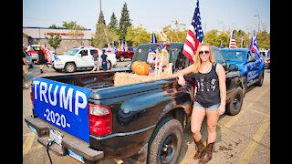 The Trump train is in Rocklin!