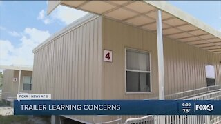 School Board Member raising concerns about students learning in portable trailers