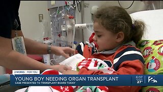 Young Boy Needing A New Organ Presented His Case To Transplant Board