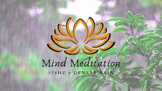 174 Hz + Gentle Rain    Pain Relief and Healing + Relaxing Sleep