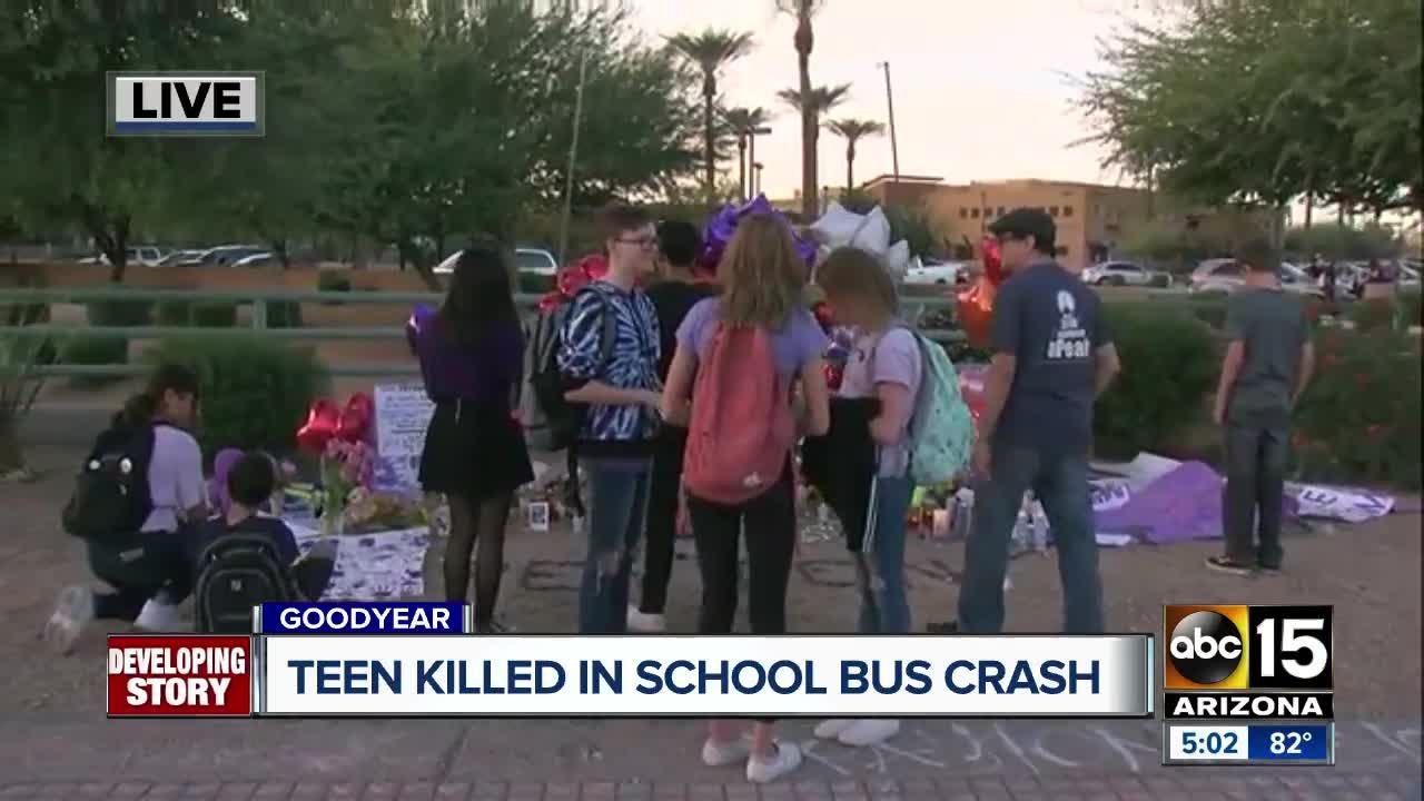 Teen killed in school bus crash