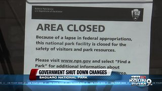The government shut down's impact on Saguaro National Park