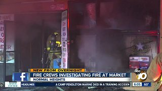 Fire destroys market in Normal Heights
