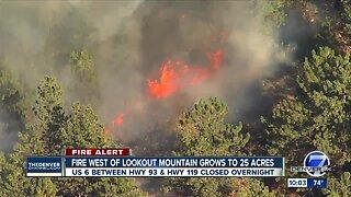 Bald Mountain Fire shuts down part of U.S. 6 in Jefferson County