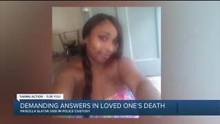 Protesters demand answers in loved one's death