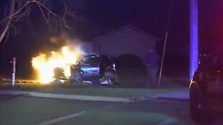 Dash cam video shows firey rescue