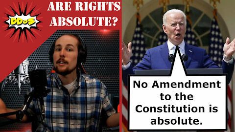 """DDoS- Biden Says No Rights are """"Absolute"""" When Introducing Gun Control"""