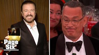 Ricky Gervais, five-time Golden Globes host, is the king of cringe