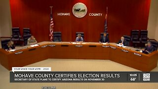 Mohave County certifies election results, assures Biden win