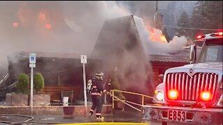 Mount Charleston Lodge burned down, cabins saved