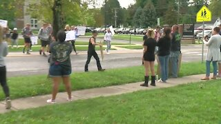 Some Akron students walk-out to raise their voices against remote learning