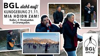 BGL steht auf! Kundgebung (Demo) in Bad Reichenhall gegen die Corona-Maßnahmen 21.11.2020