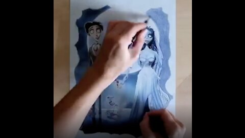Ambidextrous Artist Draws Insane Artwork With Both Her Hands At Once!