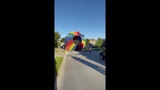 Hot air balloon lands in Omaha neighborhood (2/2)