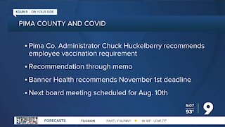 Pima County to discuss mandatory COVID vaccinations for employees