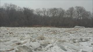 Drone Footage Captures Spectacular Ice Breakup On Frozen Humber River