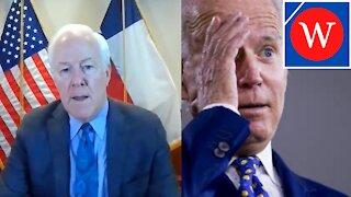 Texas Border Crisis: Sen John Cornyn Speaks On Migrants At Del Rio Border.