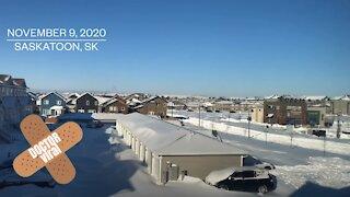 Man Time-lapses Video Of Saskatoon Severe Winter Snow Storm