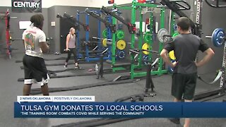 Tulsa Gym Donates to Local Schools