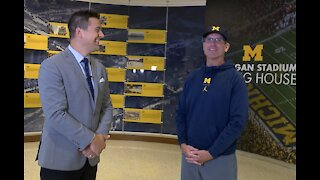 One-on-one with Jim Harbaugh: Michigan not looking ahead because 'we really haven't done anything yet'