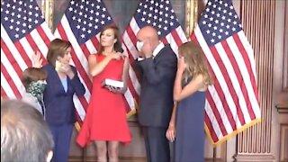 Pelosi Breaks HER OWN Mask Mandate Rules