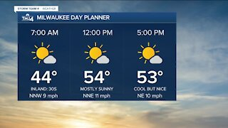 Southeast Wisconsin weather: Mostly sunny Tuesday, highs in the lower 50s