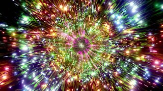 FREE background video vj loop | cool glowing reflection neon tunnel