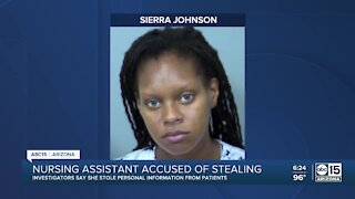 Nursing assistant accused of stealing