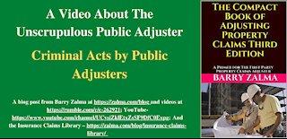 The Unscrupulous Public Adjuster