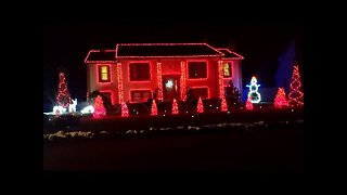 Epic Christmas light display on Connecticut home