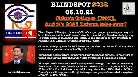 Blindspot #012 - China's collapse [NOT], and it's 2022 Taiwan take-down