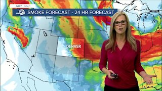 Flash Flood Watch for mtns, smoke returns to Colorado