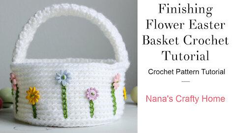 Flower Easter Basket Crochet Tutorial