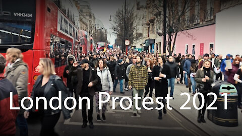 London protest 2021 - music video