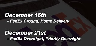 Deadlines for holiday shipping