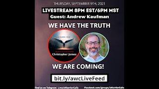 THURSDAY SEPTEMBER 9, 2021 LIVESTREAM - DR. ANDREW KAUFMAN