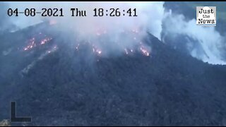 Volcano erupts on island of St. Vincent in the Caribbean