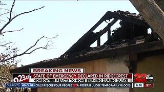 Ridgecrest Home burns