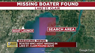 Missing boater in Lake St. Clair found alive