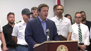 Florida Gov. Ron DeSantis makes environmental announcement in St. Petersburg