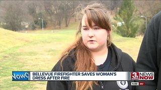 Bellevue firefighter saves woman's wedding dress after apartment fire