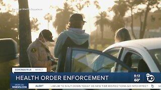 San Diego deputies to enforce new health orders