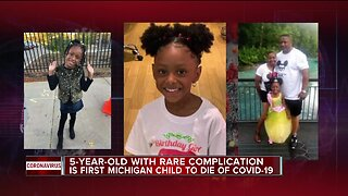 5-year-old with rare complication is first Michigan child to die of COVID-19